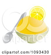 Clipart Bowl Of Lemon Shaved Ice Royalty Free Vector Illustration