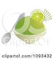 Clipart Bowl Of Lime Shaved Ice Royalty Free Vector Illustration by Randomway