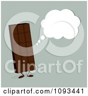 Clipart Thinking Chocolate Candy Bar Character Royalty Free Vector Illustration