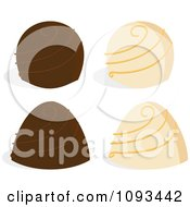 Clipart White And Milk Chocolate Truffles Royalty Free Vector Illustration by Randomway