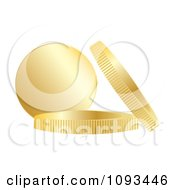 Clipart Chocolate Coins With Gold Wrappers 2 Royalty Free Vector Illustration