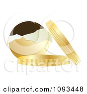 Clipart Chocolate Coins With Gold Wrappers 1 Royalty Free Vector Illustration