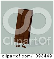 Clipart Chocolate Candy Bar Character Royalty Free Vector Illustration