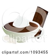 Clipart Candy Bar With Hot Chocolate Cream And Marshmallows Royalty Free Vector Illustration by Randomway