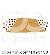 Clipart Chocolate Chip Cannoli Royalty Free Vector Illustration