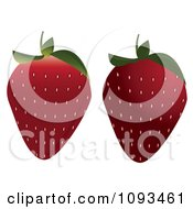Clipart Strawberries Royalty Free Vector Illustration by Randomway