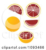 Clipart Blood Oranges Royalty Free Vector Illustration by Randomway