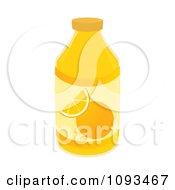 Clipart Bottle Of Orange Juice Royalty Free Vector Illustration by Randomway