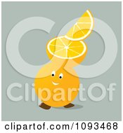 Clipart Orange Character 4 Royalty Free Vector Illustration by Randomway