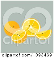 Clipart Orange Characters Royalty Free Vector Illustration by Randomway