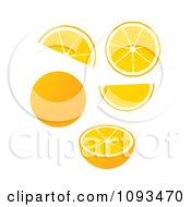 Clipart Oranges Royalty Free Vector Illustration by Randomway