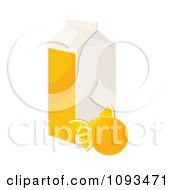 Clipart Carton Of Orange Juice Royalty Free Vector Illustration by Randomway