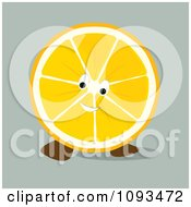 Clipart Orange Character 3 Royalty Free Vector Illustration by Randomway