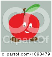 Clipart Happy Red Apple Royalty Free Vector Illustration by Randomway