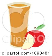 Clipart Glass Of Apple Juice By Fruit Royalty Free Vector Illustration by Randomway