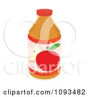 Clipart Bottle Of Apple Juice Royalty Free Vector Illustration by Randomway