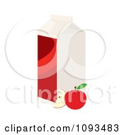 Clipart Carton Of Apple Juice And Fruit Royalty Free Vector Illustration by Randomway