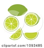 Clipart Limes Royalty Free Vector Illustration by Randomway