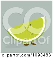 Clipart Lime Character Royalty Free Vector Illustration by Randomway
