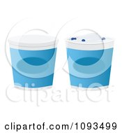 Clipart Blueberry Yogurt Containers Royalty Free Vector Illustration by Randomway