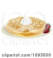 Clipart Pancakes And Powdered Sugar Royalty Free Vector Illustration by Randomway