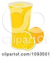 Clipart Glass Of Orange Juice Royalty Free Vector Illustration by Randomway