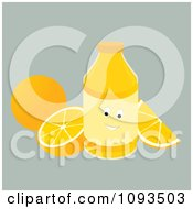 Clipart Character Bottle Of Orange Juice Royalty Free Vector Illustration by Randomway