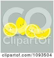 Clipart Lemon Characters Royalty Free Vector Illustration by Randomway