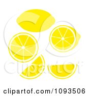 Clipart Lemons Royalty Free Vector Illustration by Randomway