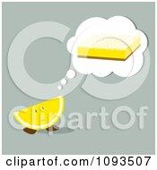 Clipart Wedge Thinking Of A Lemon Bar Royalty Free Vector Illustration by Randomway