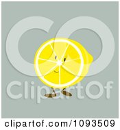 Clipart Lemon Character Royalty Free Vector Illustration by Randomway