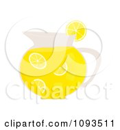 Clipart Pitcher Of Lemonade Royalty Free Vector Illustration by Randomway