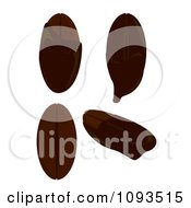 Clipart Chocolate Covered Coffee Beans Royalty Free Vector Illustration