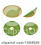 Clipart Kiwis Royalty Free Vector Illustration by Randomway