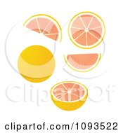 Clipart Grapefruits Royalty Free Vector Illustration by Randomway