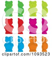 Clipart Colorful Gummy Bears Royalty Free Vector Illustration
