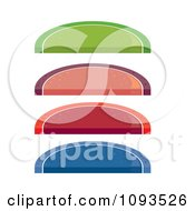 Clipart Colorful Fruit Wedge Candies Royalty Free Vector Illustration