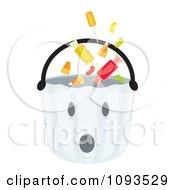 Clipart Halloween Ghost Basket 1 Royalty Free Vector Illustration