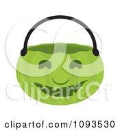 Clipart Halloween Pumpkin Basket 4 Royalty Free Vector Illustration