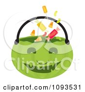 Clipart Halloween Pumpkin Basket 3 Royalty Free Vector Illustration