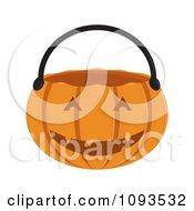 Clipart Halloween Pumpkin Basket 2 Royalty Free Vector Illustration