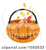 Clipart Halloween Pumpkin Basket 1 - Royalty Free Vector Illustration by Randomway