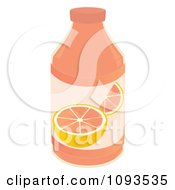 Clipart Bottle Of Grapefruit Juice Royalty Free Vector Illustration by Randomway