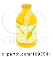 Clipart Bottle Of Carrot Juice Royalty Free Vector Illustration