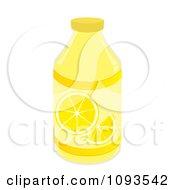 Clipart Bottle Of Lemonade Royalty Free Vector Illustration