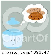 Clipart Thinking Cookie Jar Character 1 Royalty Free Vector Illustration by Randomway
