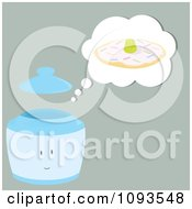 Clipart Thinking Cookie Jar Character 2 Royalty Free Vector Illustration by Randomway