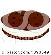 Clipart Ice Cream Cookie Sandwich 1 Royalty Free Vector Illustration