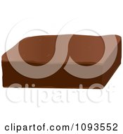 Clipart Chocolate Brownie Royalty Free Vector Illustration