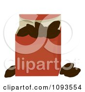 Clipart Box Of Raisins Royalty Free Vector Illustration